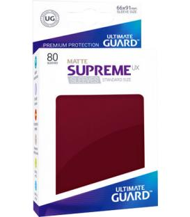 Fundas Ultimate Guard (66x91mm) SUPREME MATTE UX - Granate (80)