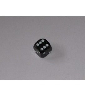 Dado Negro 6 caras (11mm)