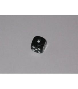 Dado Negro Mármol 6 Caras (11mm)