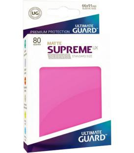 Fundas Ultimate Guard (66x91mm) SUPREME MATTE UX - Rosa (80)