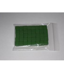 40 Cubos de Madera de 10mm - Verde