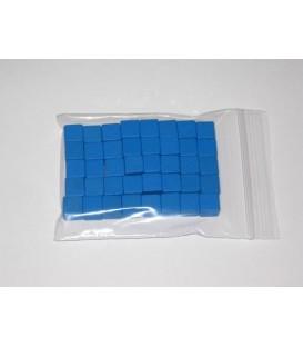 40 Cubos de Madera de 10mm - Azul