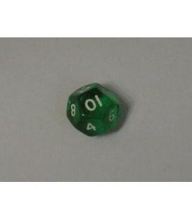 Dado Gema 12 Caras - Verde