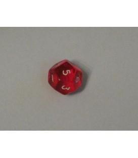 Dado Gema 12 Caras - Rojo