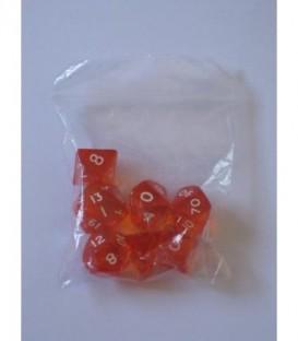Bolsa 7 Dados: Gema Naranja