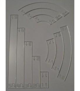 Star Wars X-Wing: Litko - Space Fighter Deluxe Gauge (11) - Transparente