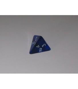 Dado Gema 4 Caras - Azul