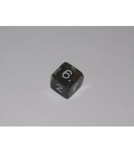 Dado Gema 6 Caras - Negro