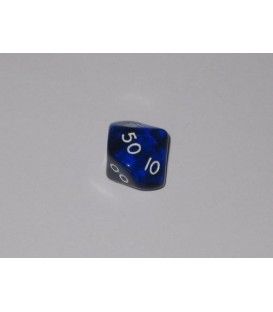 Dado Gema 10 Caras - Azul (decenas)