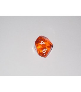 Dado Gema 10 Caras - Naranja (Unidades)