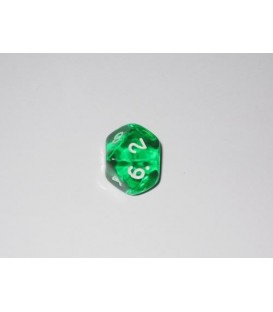 Dado Gema 10 Caras - Verde (unidades)