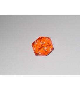 Dado Gema 20 Caras - Naranja