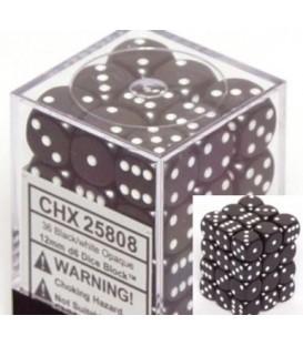 Caja Chessex 36 Dados de 6 caras: Negro