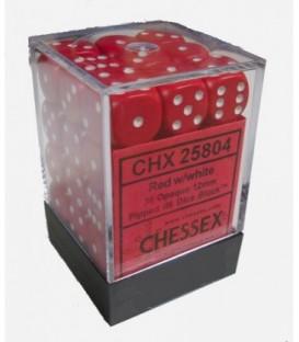 Caja Chessex 36 Dados de 6 caras: Rojo
