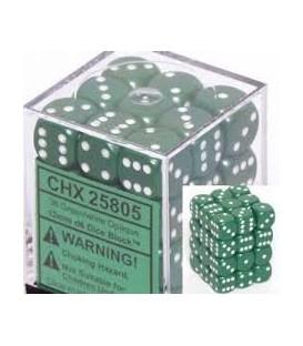 Caja Chessex 36 Dados de 6 caras: Verde