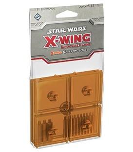 X-Wing: Bases and Pegs (Naranja)