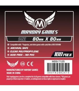 Fundas Mayday Cuadrada Mediana (80x80mm) (100)