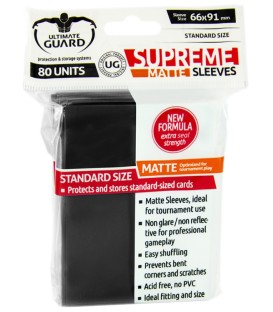 Fundas Ultimate Guard (66x91mm) SUPREME MATTE - Negro (80)