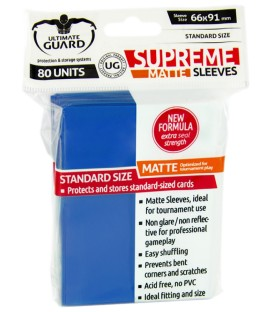 Fundas Ultimate Guard (66x91mm) SUPREME MATTE - Azul (80)