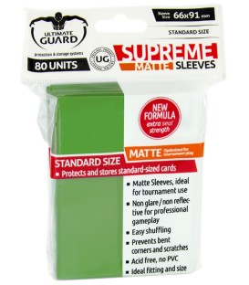Fundas Ultimate Guard (66x91mm) SUPREME MATTE - Verde (80)