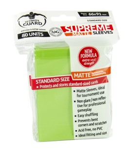 Fundas Ultimate Guard (66x91mm) SUPREME MATTE - Verde Claro (80)