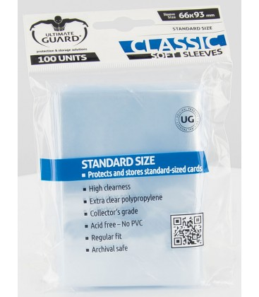 Fundas Ultimate Guard (66x93mm) CLASSIC - Tamaño Standard (100)