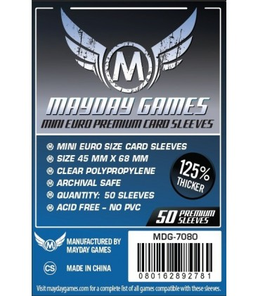 Fundas Mayday Mini Eurogame (45x68mm) PREMIUM (50)