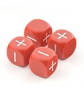 Bolsa 4 Dados Fudge / Fate (Rojo)