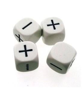Bolsa 4 Dados Fudge / Fate (Blanco)