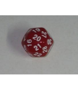 Dado 30 Caras (Rojo)