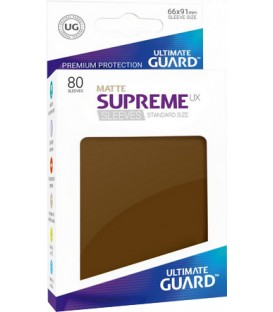 Fundas Ultimate Guard (66x91mm) SUPREME MATTE UX - Marrón (80)