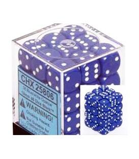 Caja Chessex 36 Dados de 6 caras: Azul