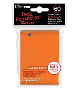 60 Fundas Mini Deck Protector - Naranja (62x89 mm)