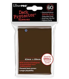 60 Fundas Mini Deck Protector - Marrón (62x89 mm)