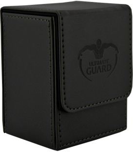 Deck Case Leatherette 80+ Negro Ultimate Guard
