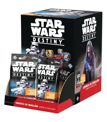 Star Wars Destiny: Espíritu de Rebelión (Expositor con 36 Sobres de Ampliación)