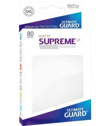 Fundas Ultimate Guard (66x91mm) SUPREME MATTE UX - Blanco (80)