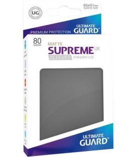 Fundas Ultimate Guard (66x91mm) SUPREME MATTE UX - Gris (80)