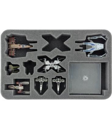 Star Wars X-Wing: Víbora Estelar, M3-A, IG-2000, Z-95 y Ala-Y (Foam Tray)