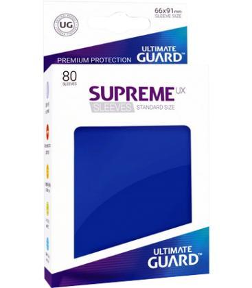 Fundas Ultimate Guard (66x91mm) SUPREME MATTE UX - Azul (80)