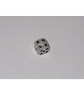 Dado Blanco Mármol 6 Caras (11mm)