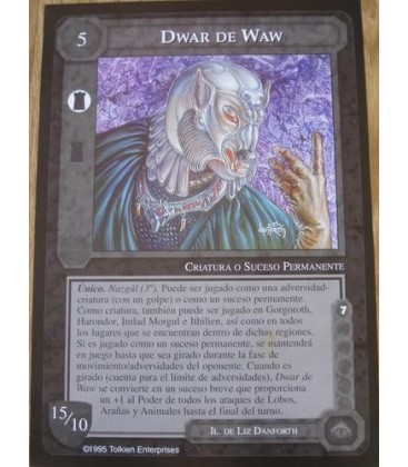Lámina Dos Caras - Frodo + Dwar de Waw