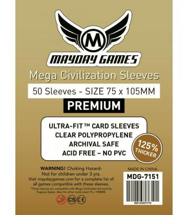 Fundas Mayday (75x105mm) PREMIUM (50) - Mega Civilization