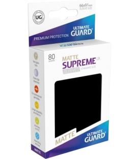 Fundas Ultimate Guard (66x91mm) SUPREME MATTE UX - Negro (80)