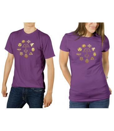 Mago La Ascensión: Camiseta Púrpura Recta L