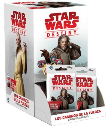 Star Wars Destiny: Los Caminos de la Fuerza (Expositor con 36 Sobres de Ampliación)