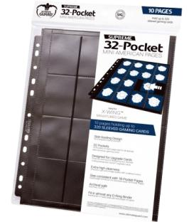 Supreme 32-Pocket Mini American Size Pages (10) - Ultimate Guard