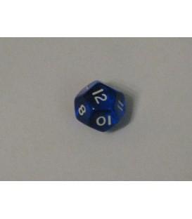 Dado Gema 12 Caras - Azul