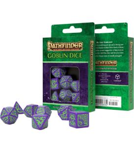 Q-Workshop: Pathfinder - Goblin Purple and Green Dice Set
