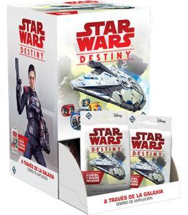 Star Wars Destiny: A Través de la Galaxia (Expositor con 36 Sobres de Ampliación)